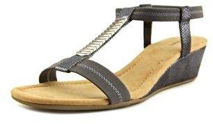 Alfani Vacay Women Open Toe Synthetic Gray Wedge Sandal.