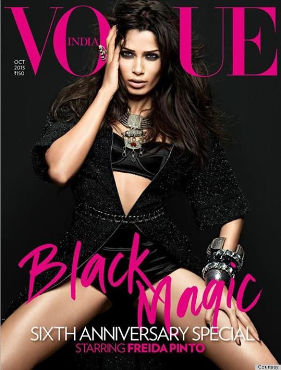Freida Pinto Covers Vogue India, Heidi Klum Is a Hoarder, and Cara Delevingne Tattoos a Fan