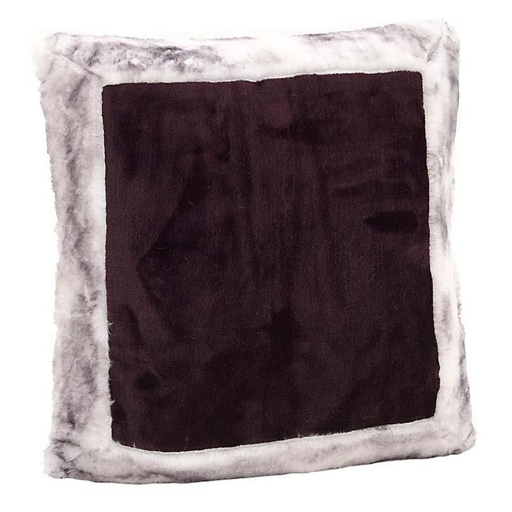 SYNTHETIC FUR CUSHION COVER IN PURPLE-GREY COLOR 40X40 - Furs - FABRIC ITEMS