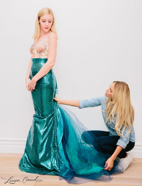 Maybe next year? Wish i could pull this off!!  Lauren Conrad's DIY Mermaid Halloween Costume {easy to make and so cute}