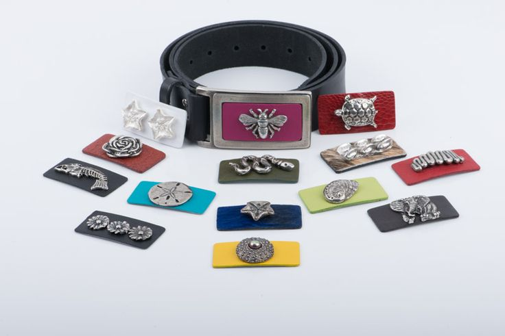 LEATHER BELT,DESIGNED WITH REMOVABLE PLATES