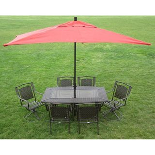 Premium 10-foot Rectangular Patio Umbrella with Stand - 12930978 - Overstock.com Shopping - Big Discounts on Patio Umbrellas