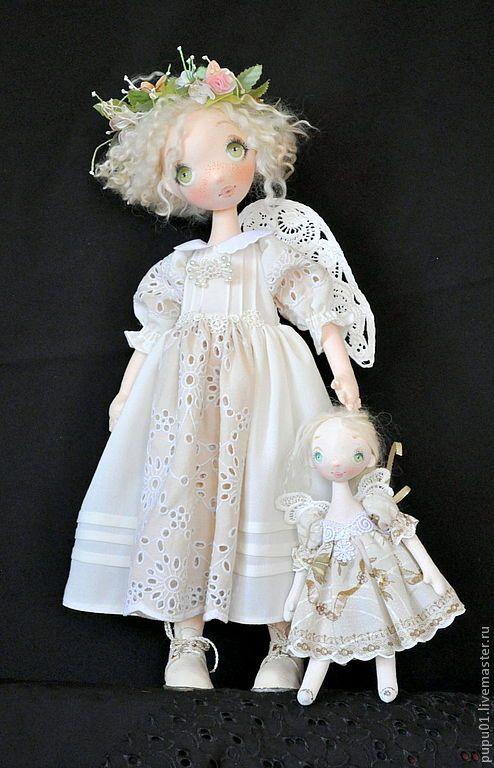 Купить Ангелы тоже играют в кукол - бежевый, авторская ручная работа, авторская кукла