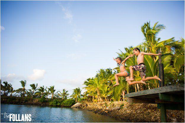 Jetty jumping @ Wananavu, Fiji