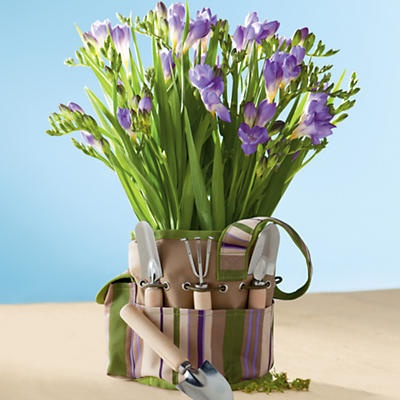 Freesia Garden Gift Tote   A Stylish Gardening Tote, Great For Holding  Gardening Supplies,
