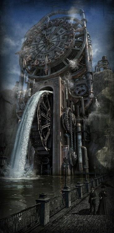mechanical Clock run with water