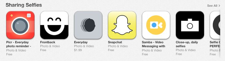Apple launches new featured App Store section dedicated to taking selfies