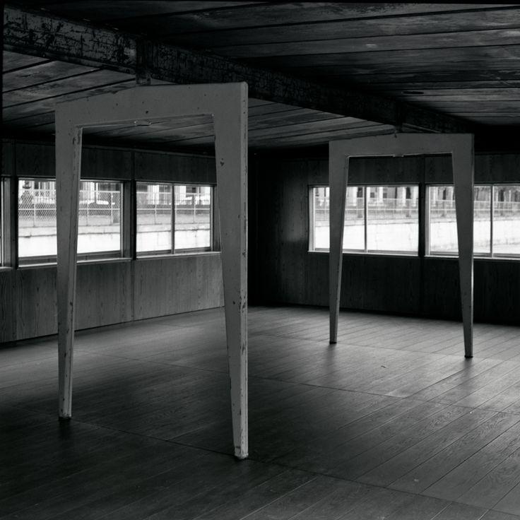Jean Prouvé Maison Ferembal portiques.Nancy 1948