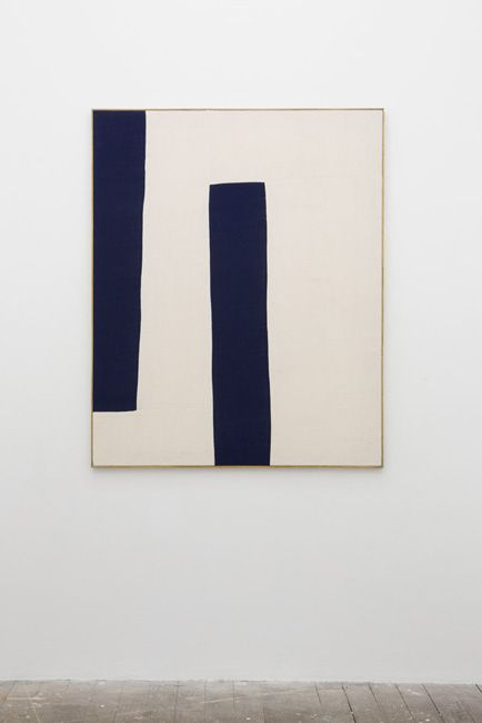 "Simple & striking // ETHAN COOK 40""x50"" Hand woven cotton canvas in artists frame, 2013"