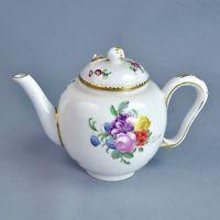 Paris Manufacture De La Reine Théière Porcelaine 18ème Bouquets