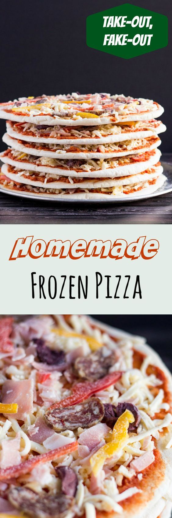 Stash Homemade Frozen Pizza in the freezer for a quick and tasty ready meal. Cheaper than take out, and for no extra cost you can choose your own toppings.