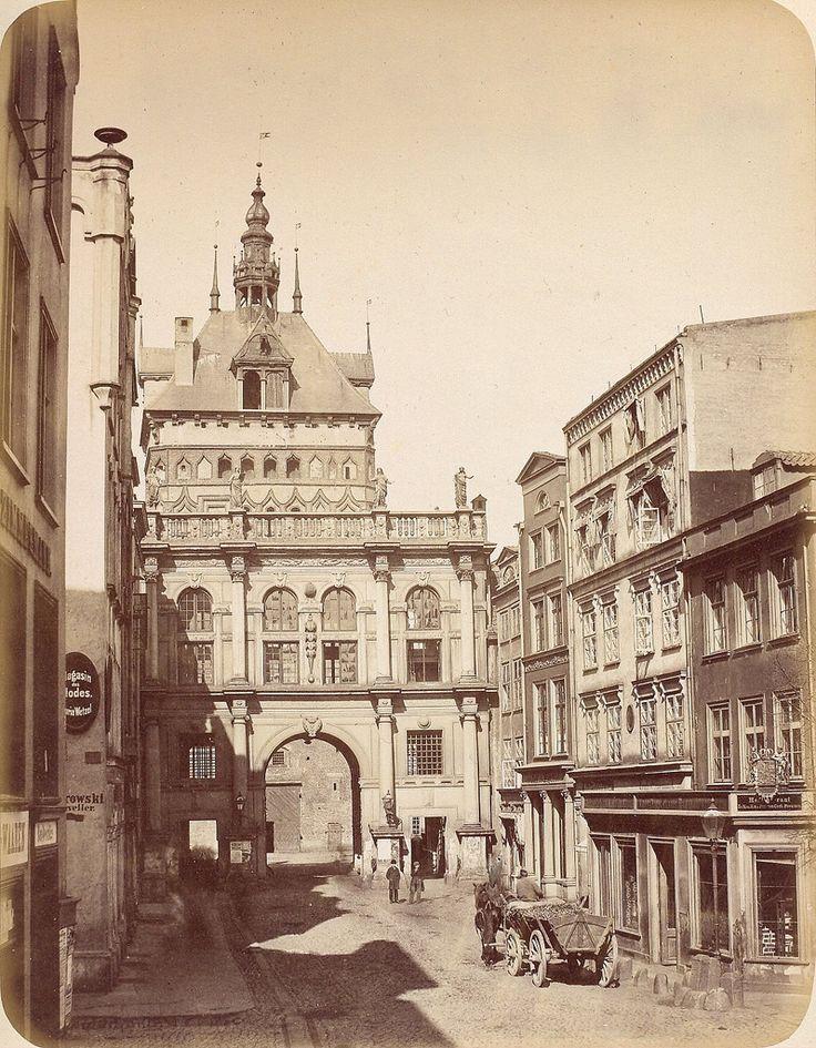 Danzig/Gdańsk - Golden Gate, opposite view, 1865