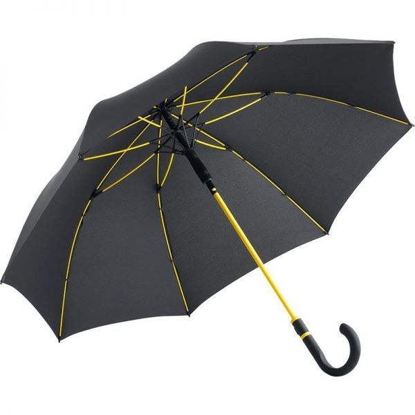 Parapluie Fare fibre de verre et toile en polyester pongé.
