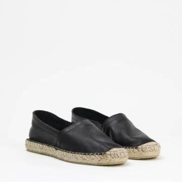 Amo Store ESPA Slip-On Espadrille Black Leather