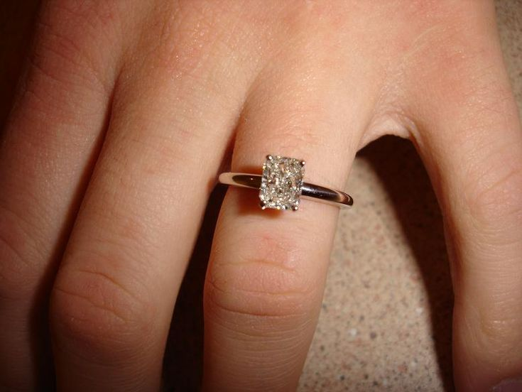 Radiant Cut Engagement Ring- ok I admit it I'm obsessed with engagement rings.