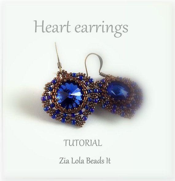 Boucles d'oreilles Cœur, tutoriel Ohrringe Herz Anleitung Orechini Cuore, tutorial Heart earrings tutorial  This Tutorial is available in FOUR