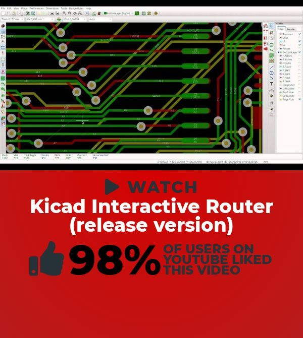 """Searching for a dank Science & Technology clip to play? This masterpiece titled, """"Kicad Interactive Router (release version)"""" will have you on the edg…"""