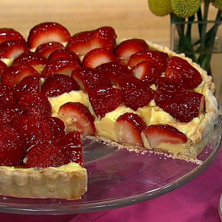 the chew | Recipe  | Clinton Kelly's Strawberry Tart