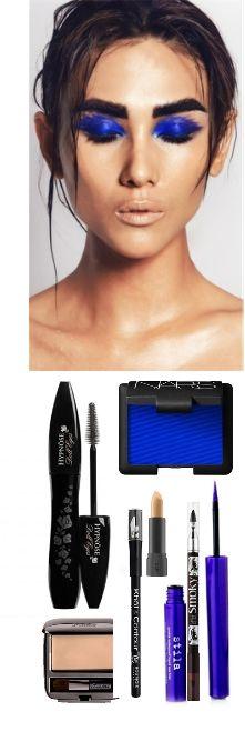 Синий макияж для глаз 2014, make up, blue, fashion