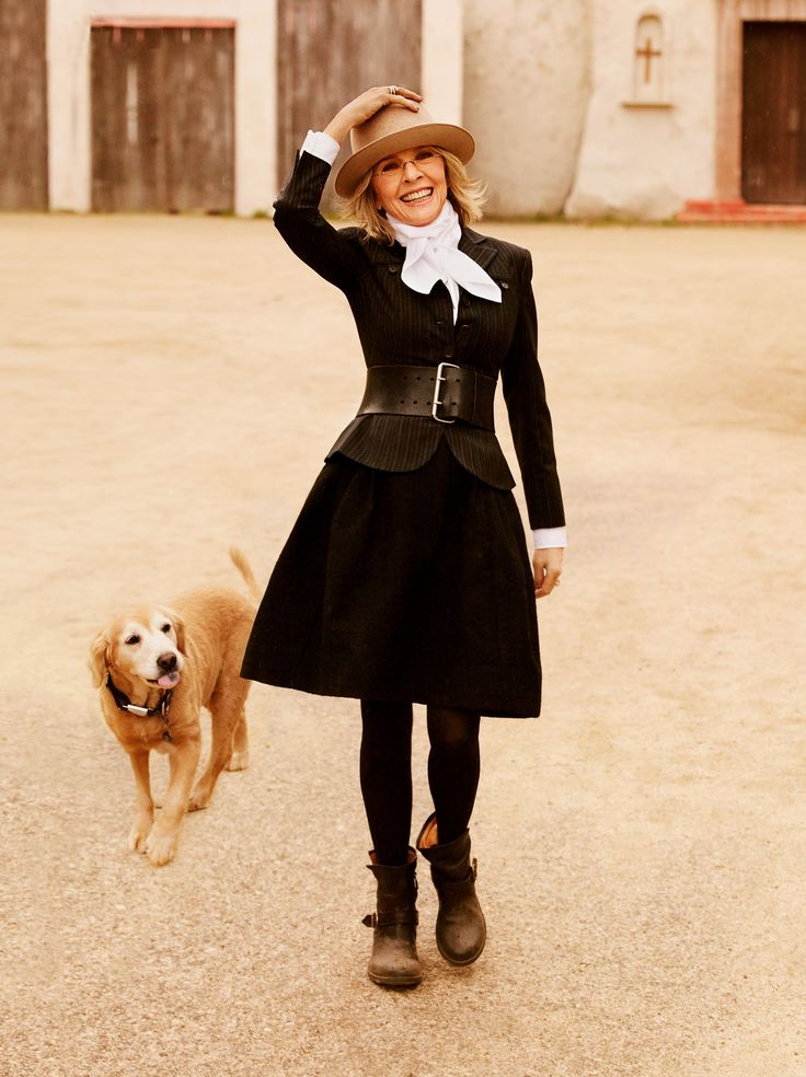 Diane Keaton is one of my fashion icons.  I have a skirt like this.