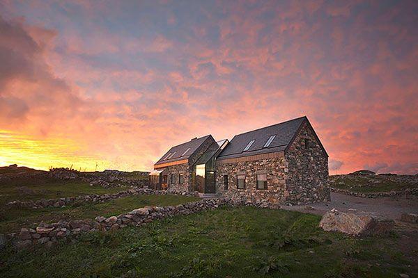 Modern Stone Hut Connemara Residence: Contemporary Styled Classic Stone Cottage