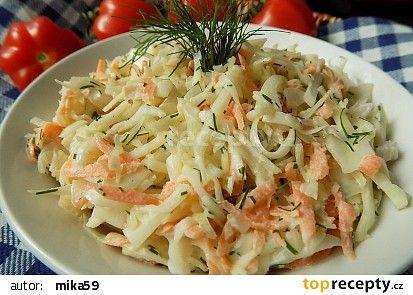 Zelný salát s mrkví a koprem recept - TopRecepty.cz