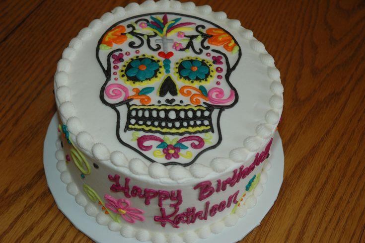 sugar skull cake stencil - Google Search