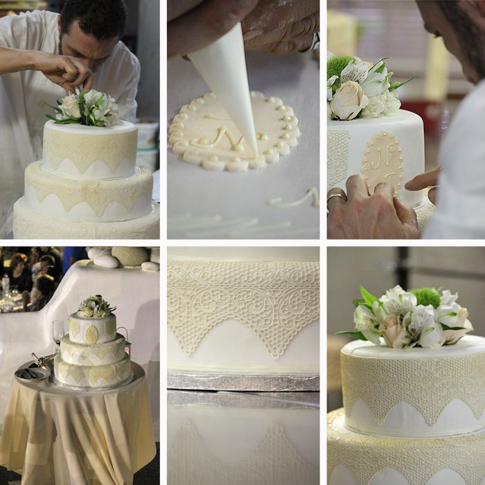 The making of a wedding cake by Mathiassos Pastry Shop, Naxos