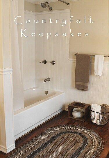 Countryfolk Keepsakes: Got the braided rug for the bathroom...