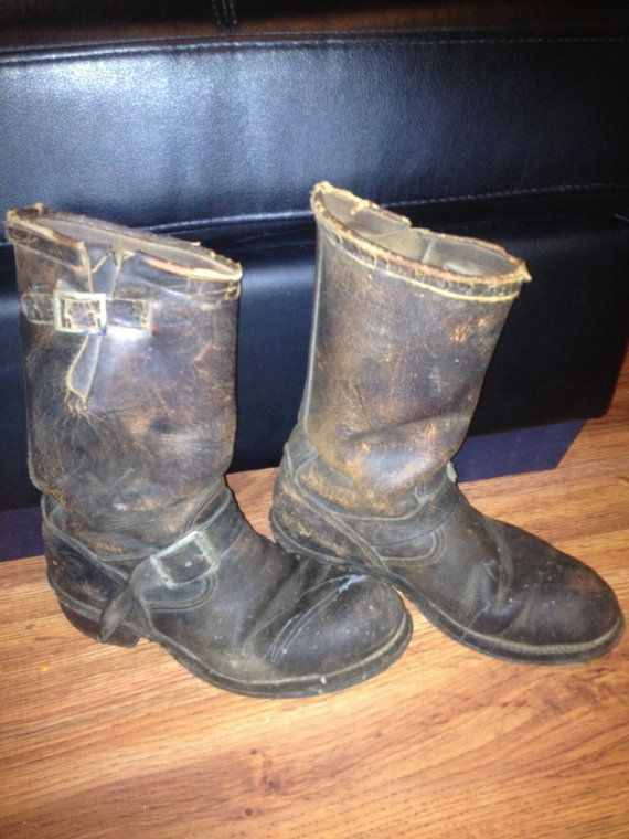 1940's Chippewa Engineer Biker Boots men's by PussInBootsVintage, $550.00