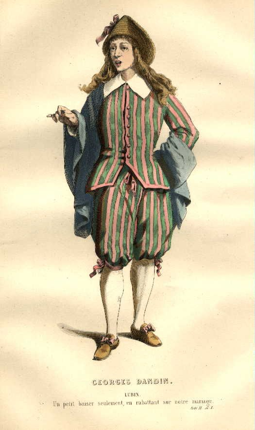 19th Century French Costume Designs For The Plays Of