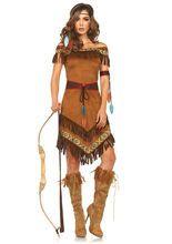 Indianerin Western Damenkostüm braun aus der Kategorie Cowboy & Indianer Kostüme. Diese heiße Indianerin benötigt nicht einmal Federschmuck, um die Blicke der Männerwelt auf sich zu ziehen. Ein atemberaubendes Faschingskostüm für Damen, das sowohl an Karneval als auch auf der nächsten Mottoparty für Aufsehen sorgen wird.