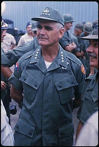 General Westmoreland Vietnam War | Public Domain: General William Westmoreland in Vietnam by Robert C ...