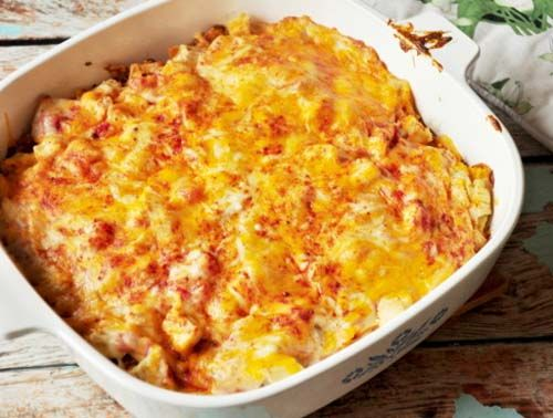 This loaded cheese and tomato king ranch chicken was a recipe I used to make several times a month and even then someone was always requesting it