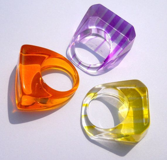 Lucite Rings