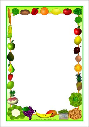 Vegetable Page Border