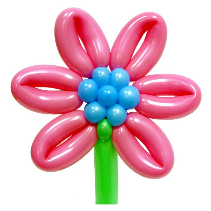 Цветок Гербера из воздушных шаров. Видео: https://youtu.be/PO3DCDVC3co Цветы из воздушных шаров, flower from balloons.