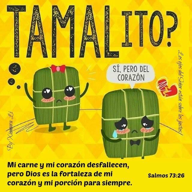 Tamales con versículo