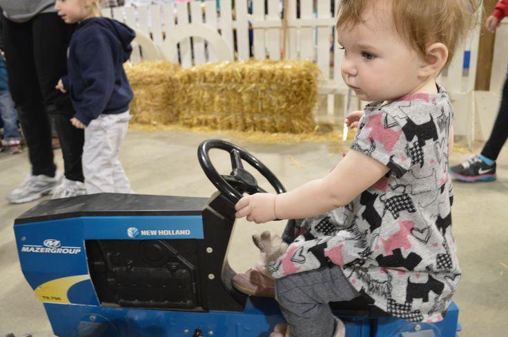 Mini tractors at the Royal MB Winter Fair, Keystone Centre - Brandon
