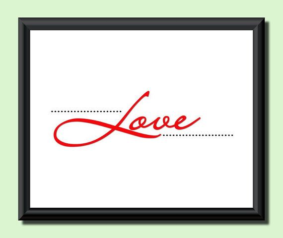 Dotted Love . Poster . Valentine . Wall Decor . by JohshiDesigns, $6.50