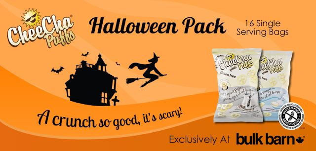 WIN 1 of 3 Cases of CheeCha Puffs snacks from the SnyMed.com blog!  They're peanut-free and tree nut-free, with 5 gluten-free flavours!  Ends Oct 23/2013.