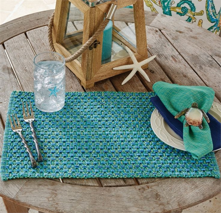 The Country Porch Home Decor Features Agean Sea Placemat From Park Designs