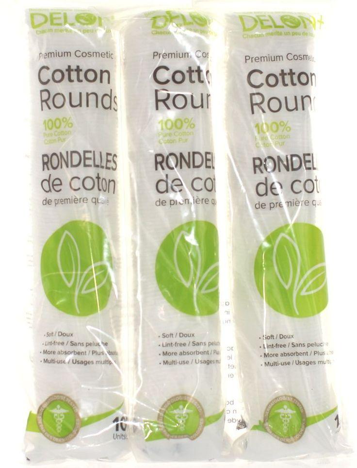 Delon 100% Cleansing Cotton Rounds (300)   #Delon #CottonPad #Makeup #MakeupRemover #CottonRounds #Cotton