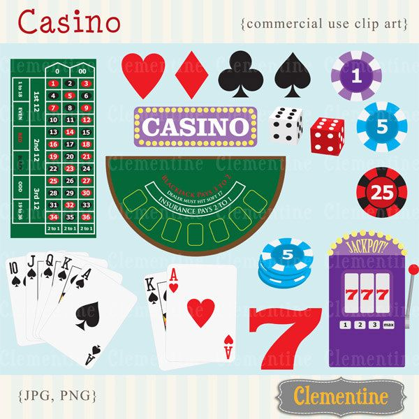 New to ClementineDigitals on Etsy: Poker clip art images casino clip art royalty free images commercial use- Instant Download (5.00 USD)
