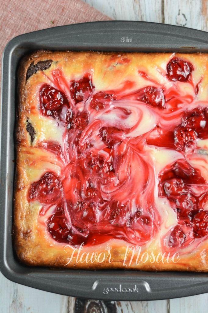 Cherry Cheesecake Brownies - Flavor Mosaic