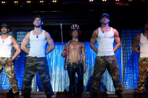 Magic Mike lineup. Good heavens. Is it hot in here?