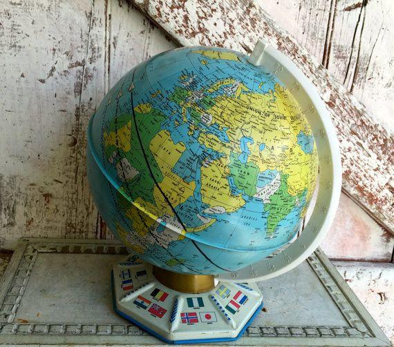 Best ArounD THE GLoBe Images On Pinterest Vintage Globe - Usa globe map