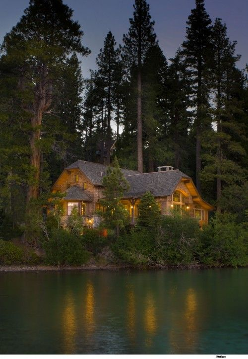 In The Land Of Giants This Home Seems Like A Fairy Tale Cottage Woods Traditional Exterior By Ward Young Architecture Planning Not Sure Id Call
