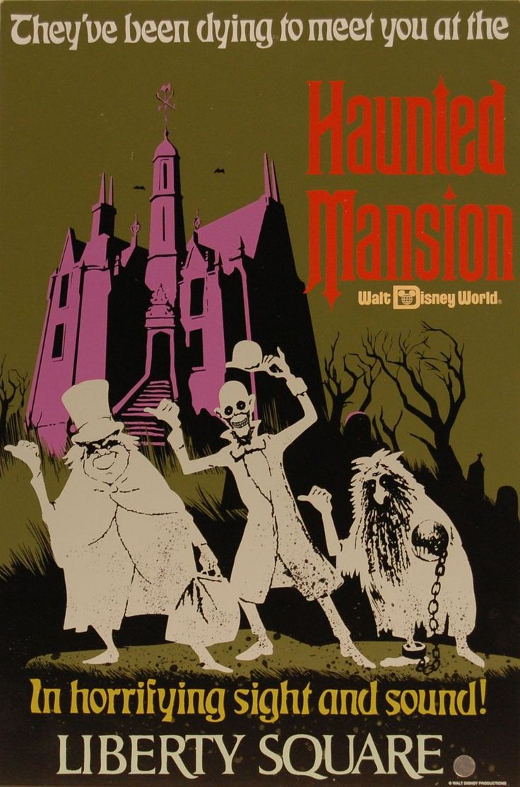Disney velvet coloring posters - The Haunted Mansion Tin Attraction Poster Photo By Chris Barry