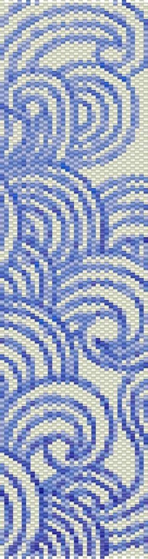 peyote cuff blue - Recherche Google